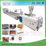 Hochwertiger hölzerner (WPC) zusammengesetzter Decking des PlastikPVC/PE/PP+, Fußboden, Zaun-Vorstand-Profil-Maschinen-Extruder-Lieferant