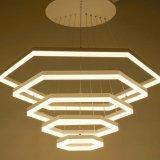 싼 광저우 현대 LED 6각형 모양 알루미늄 샹들리에