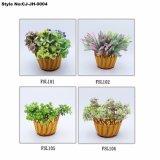 Plástico artificial el césped y flores Bonsai para la decoración del hogar