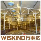 Prefabricados de acero de bajo coste de la luz de la estructura de la casa de aves de corral
