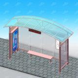 Die Straßen-Möbel, die Baustahl bekanntmachen, setzen für Preis Bus-Kiosk mit Prüftisch und LED fest