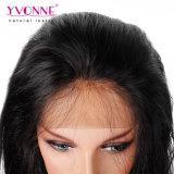 Yvonne 최신 판매 자연적인 똑바로 100% 인간적인 브라질 사람의 모발 레이스 정면 가발