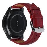 para la correa 22m m de la venda de reloj del cuero genuino del estilo del engranaje S3 Dw de Samsung