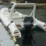 Liya 8.3mの膨脹可能な肋骨のボートのガラス繊維の外皮の小屋のボート