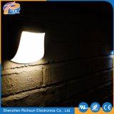 12V lampe de mur solaire extérieure carrée de la lumière DEL pour le jardin