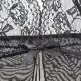 Laies Hot lingerie sexy nuisette noir robe dentelle Lingerie vêtements de nuit et G-String