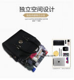 Stellt China-Großverkauf 2018 3 Stücke lederne Beutel-Dame-Beutel-Handtasche ein