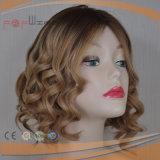 Kurzes europäisches Haar-Silk oberste blonde Perücke (PPG-l-01860)