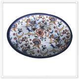 Plaques de dîner ovales de mélamine de forme d'utilisation de noce
