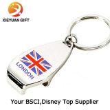 Apri di bottiglia su ordinazione del metallo di promozione Keychain