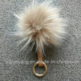 Оптовым шарик шерсти Raccoon Faux Beanie шерсти связанный Pompom