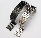 Роскошные принадлежности Watchband бабочка складная преднатяжитель плечевой лямки ремня полосы из нержавеющей стали 7 шва твердые связи браслет Watchband