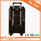 Partei-Zeit-Laufkatze Bluetooth drahtloser Hinterverkleidungs-Lautsprecher Al1041 mit Universalrad Temeisheng