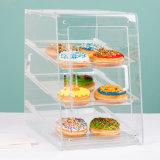 De nieuwe Hete Acryl Gebogen VoorVertoning van de Cake van 3 4 5 Rijen