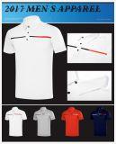 魅力的な様式および卸売の短い袖のカスタムロゴの人のポロのゴルフTシャツ