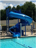 普及した青いガラス繊維水スライド