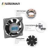 (SF12038) Ventilador de ventilación de plata del extractor del ventilador del rodamiento de bolitas del ventilador 7blades