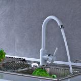 白いペンキのMinxing熱くか冷たい水は水路のコックを回転させる