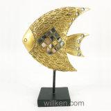 彫像の樹脂は魚の装飾の海洋の芸術を制作する