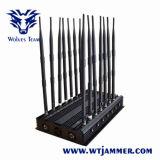 調節可能な14アンテナ強力なGSM 3G 4G WiFi UHF VHF GPS Lojackのシグナルの妨害機