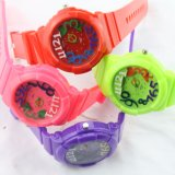 Promotion Fashion Cartoon Kids montre à quartz avec bracelet en silicone (DC-CL883)