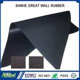 ファブリックによって印象づけられるEPDM/Neoprene/Natural/Nitrile/Butylゴム製シートの布は床のマットを示す