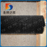 Vérin de la bobine de la brosse en nylon noir pour le nettoyage