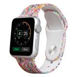 安い価格のIwatchのためのベストセラーの柔らかいシリコーンパターン時計バンド