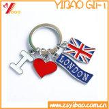 Пользовательский логотип печати цепочки ключей с верхней части пластика (YB-KY-40)