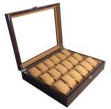 Cajas de reloj para el organizador del almacenaje de madera sólida de las ranuras de los hombres 12