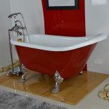 Chinesische kleine ovale seitliche freistehende Badewanne des Acryl-zwei (BG-7006J)