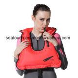 Взрослых надувной кожи с трубкой и маской / плавание с аквалангом безопасности подводного Майка куртка жизни Майка