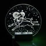 Indicatore luminoso di notte del LED con il comitato acrilico ed il reticolo personalizzato