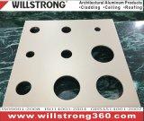revêtement de mur d'aluminium de 4mm avec la fabrication professant le service
