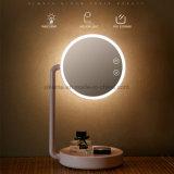 2017 Novo design de iluminação de mesa com um lindo espelho dobrável LED de luz do espelho de cortesia