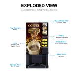 Precio favorable en polvo Instantánea de alta calidad de la máquina expendedora de café caliente F303
