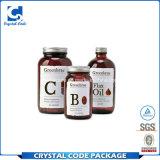 Etiqueta adhesiva personalizada Etiqueta de la botella de medicina