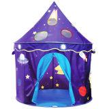 Pop-up Theater van het Kasteel van de Tent van het Spel van Jonge geitjes Binnen met het Patroon van de Kosmische ruimte
