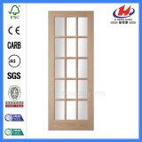 Nueva puerta de madera de cristal irrompible de la media luna del diseño