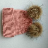 Beanies tricotés gris bon marché en gros de chapeau de béret de mode