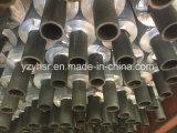 Tubo de aleta compuesto del cobre y de aluminio del metal doble en refrigerador de aire