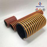 Tubo flessibile a spirale flessibile giallo/blu/rosso/di verde PVC della pompa dell'acqua di aspirazione