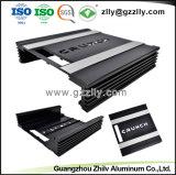 Dissipatore di calore di alluminio dell'espulsione anodizzato il nero per l'audio amplificatore automatico