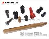 bit de broca elevado do carboneto de tungstênio DTH da pressão de ar 5-Inch