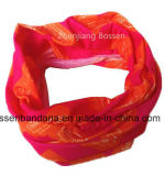 На заводе производят Логотип красного полиэстер сшитых многофункциональных горловины трубку головные уборы