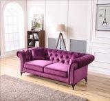 Sofá copetudo púrpura de Chesterfield del ocio casero de los muebles