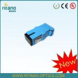Sc оптоволоконный адаптер с затвора при более низких потерь 0,15 Дб