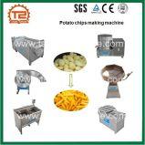 Linha de processamento roxa fritada congelada comercial das microplaquetas de batata doce