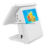Heißer Verkauf Icp-E8600dl2 alle in einer Noten-doppelten kapazitiven Screen-Registrierkasse Positions-Maschine für Positions-System/Supermarkt/Gaststätte