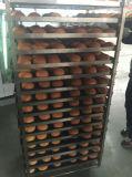 De op zwaar werk berekende Rekken van het Roestvrij staal van het Karretje van het Brood van de Bakkerij
